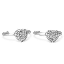 Fab Zircon Heart Toe Ring-TR128