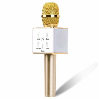 Surya Wireless Karaoke Microphone 12w Hi- Fi Bluetooth Speaker Player for iPhone Android Smartphone, Dual Drivers for Superior Sound Capsule 16 Hours Playtime with 3000 mAh Battery