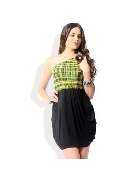 Glam and Luxe Casual Dress,  green, m
