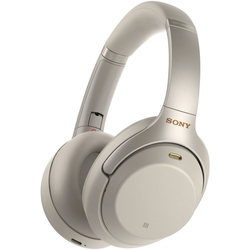 Sony WH-1000XM3 Wireless Noise-Cancelling Bluetooth Over-Ear Headphones with Mic for phone call, Silver