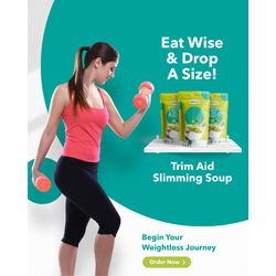 NutraSphere Instant Lemon Coriander Soup Mix for Weight Loss (With Natural Active Ingredients), 200 gms - 10 sachets