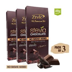 Classic Stevia Chocolate 40 gm, pack of 3