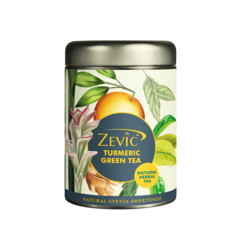 Zevic Turmeric Herbal Green Tea with Turmeric, Orange Peel & Lemon Grass 50 gm - 25 Servings