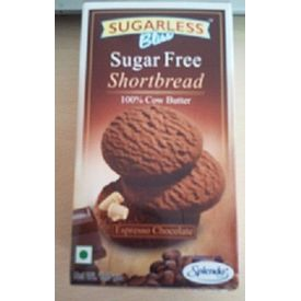 Sugarless Bliss Short Bread - Expresso Chocolate (Sugar free for diabetics)