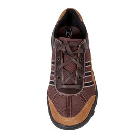HealthPlus Diabetic Sports Shoes for Men (With Lace), 10, brown
