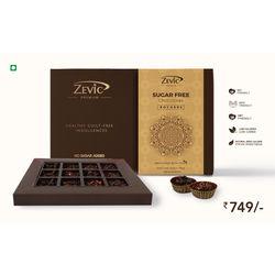 Assorted Sugar Free Rochers 12 Pcs - Luxury Chocolates