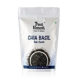 True Elements Raw Chia Basil Seeds, 150 grams