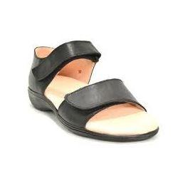 HealthPlus - 100% Leather Women's Diabetic Sandals, 7, brown