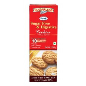 Sugarless Bliss Vanilla Butter Cookies, 200 gms