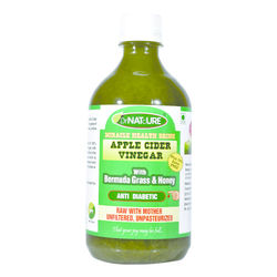 DrNATcURE Apple Cider Vinegar (Anti-diabetic) Blended with Bermuda Grass and Honey
