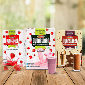 NutraSphere Instant Healthy Milk Shake Powder Combo of 3 (Strawberry, Chocolate, Falooda) - 600g, 18 Sachets