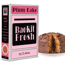 BaeKit Fresh Plum Cake by D-Alive (Vegan, Sugar-Free, Gluten-Free, All Natural & Healthy) - Easy Interactive DIY Baking Kit to Bake at Home, 850g