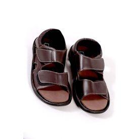 DIS - Diabetic Footwear - Men - Sandals Pure Leather - D22, 8, brown