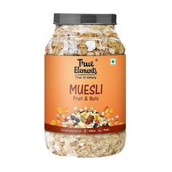 True Elements Fruit and Nut Muesli, 1000 grams