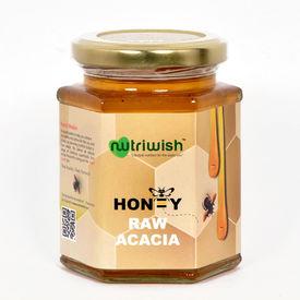 Nutriwish Acacia Honey - 350 grams ( 100% Pure Acacia Honey)