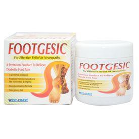 Footgesic Gel 100gms Diabetic Neuropathy Foot Cream
