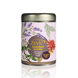 Zevic Kashmiri Kahwa - 20 Pyramid Tea Bags(Sweetened with Stevia)
