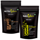 NutraSphere Hot n Sour Protein Soup, Lemon Coriander Diet Soup Mix Powder (Combo of 2)