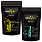 NutraSphere Lemon Coriander Diet Soup, Manchow Fiber Soup Mix Powder (Combo of 2)