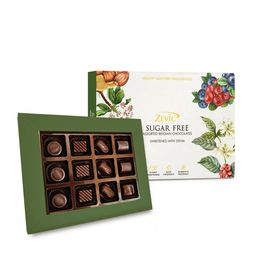 Zevic 70% Dark Sugar Free Pralines and Truffles Gift Pack 120 gm