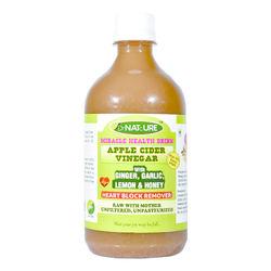 DrNATcURE Apple Cider Vinegar for Heart-care, Blended with Ginger, Garlic, Lemon, Honey - 500 ml