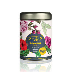 Zevic Ayurvedic Slimming Tea - 20 Pyramid Tea Bags(Sweetened with Stevia)