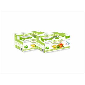 Zindagi Stevia White Powder Sachets 100 sachets- Natural Stevia Leaves Extract - Sugarfree Sweetener (Pack Of 2 X 50)