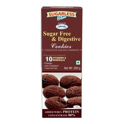 Sugarless Bliss Chocolate Black Current Cookies, 200gms