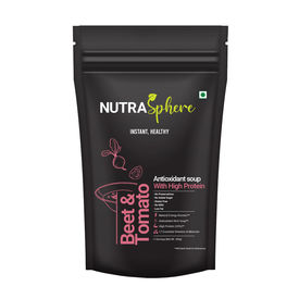 NutraSphere Beet and Tomato Antioxidant High Protein Soup Mix Powder, pack of 10
