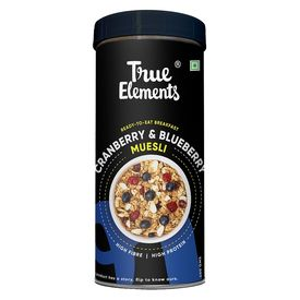 True Elements Cranberry and Blueberry Muesli, 400 grams
