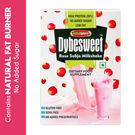 NutraSphere Instant Rose Sabja Sugar Free MilkShake Powder (High Protein, Natural Fat Burner), 400 gms - 12 sachets