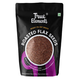 True Elements Roasted Flax Seeds, 125 grams