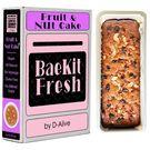 BaeKit Fresh Fruit & Nut Cake by D-Alive (Vegan, Sugar-Free, Gluten-Free, All Natural & Healthy) - Easy Interactive DIY Baking Kit to Bake at Home, 400g