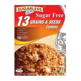 Sugarless Bliss 13 Multi Grain & Seeds Cookes (200 Gms)
