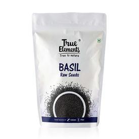 True Elements Basil seeds, 250 grams