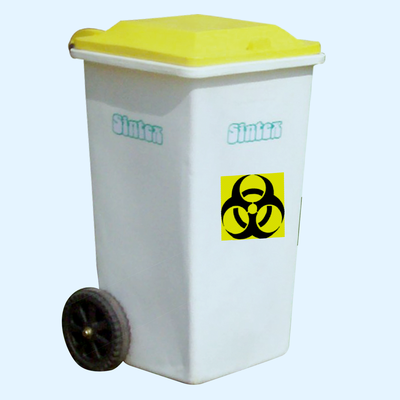 Wheeled waste bins: GBRW series, yellow , 90 liters