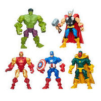 Hot 6pcs/sets The Avengers 5 Captain America Wolverine Thor Spiderman Batman Action Figures Toys Boy children dolls superhero