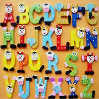 Wooden Cartoon Alphabet Fridge Whiteboards Magnet Educational Toys for Baby Kids