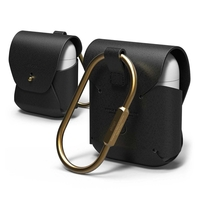 Elago Airpods Genuine Leather Case,  Black