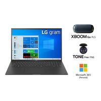 "LG GRAM 17Z90P i7-1165G7, 16GB RAM, 1TB SSD, Intel Iris Xe Graphics, 17"" WQXGA Laptop, Black"