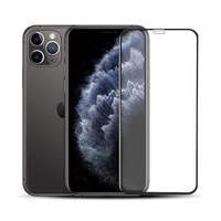 Hyphen iPhone 11 PRO Max Tempered Glass Case Friendly, Black