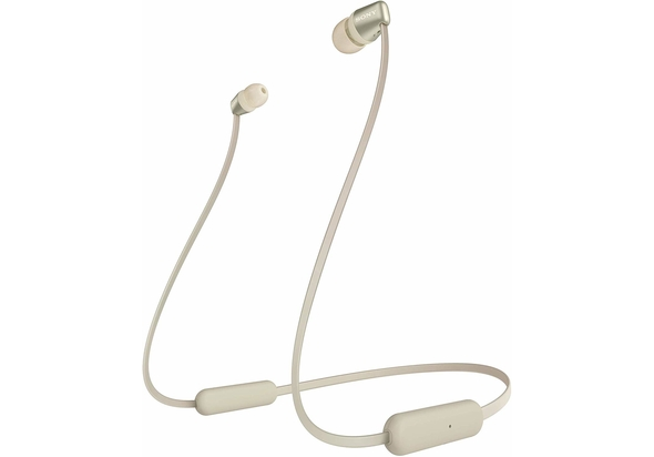 Sony WI-C310 Wireless in-Ear Headphones, White,  Gold