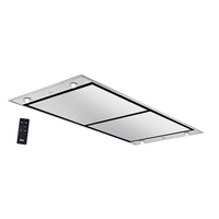 Teka 120 cm Island Ceiling Hood DHT 1285, 10 speeds, Remote control, Stainless steel