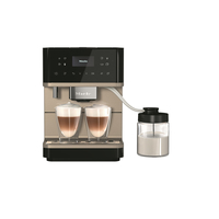 Miele Fully Automated Coffee Machine CM 6360 MilkPerfection, Obsidian Black CleanSteel Metallic