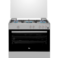Teka 90x60 cm 5 Burners Full Gas Cooking Range FS 902 5GG SS, Multifunction Gas Oven, Stainless steel