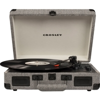 Crosley CR8005D-HB4 Cruiser Deluxe Turntable with Speaker, Herringbone - CH