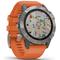Garmin Fenix 6 Multisport GPS Watch, Titanium/Ember Orange