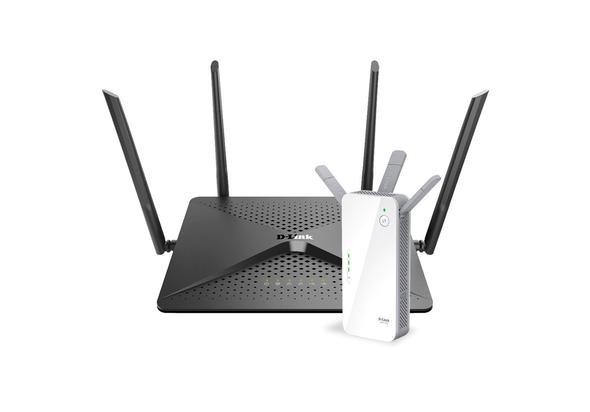 دي لينك , راوتر واي فاي جيجا بايت + موسع نطاق شبكة واي فاي ثنائي الموجات