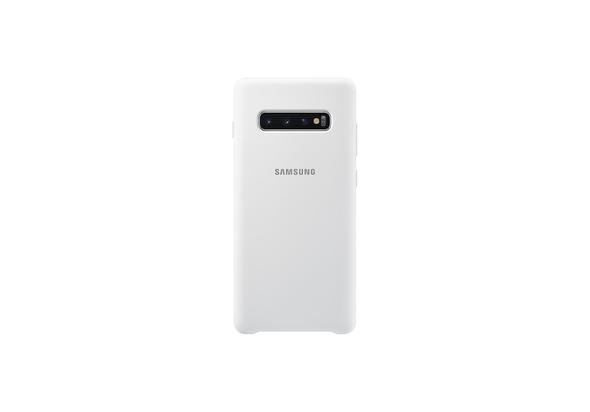 Samsung Galaxy S10+ Silicone Cover, White,  White