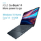 Asus Zenbook i5 8GB, 512GB 14  Laptop, Gray